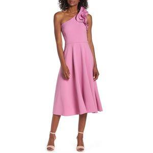 NWT One Shoulder Eliza J Cocktail Dress - Pink